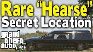 """GTA 5 - RARE """"FUNERAL HEARSE"""" LOCATION (Rare Car Guide #9) [GTA V]"""