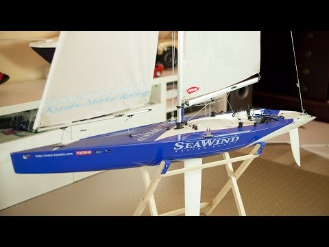 Kyosho SeaWind – 1 meter racing-class sailboat – Presentation and sailing-demo! :)