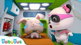Super Panda Rescues Rabbit Momo | Super Panda Rescue Team | Firefighter Story | BabyBus Cartoon
