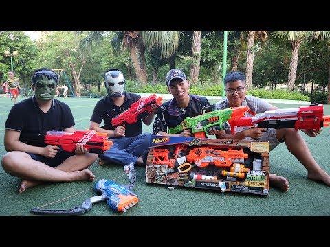 Nerf Game Fun | Cuộc chiến giành súng Nerf