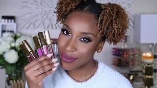 Lena Lashes Liquid Lipstick Swatches! | Jackie Aina