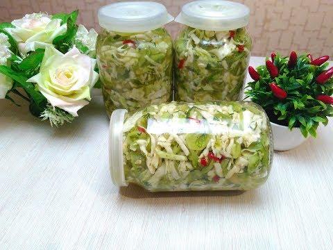 Вкусный салат на зиму из зелёного помидора