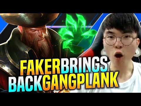 FAKER IS INSANE WITH GANGPLANK! - SKT T1 Faker Plays Gangplank vs Nautilus Mid! | T1 Faker KR SoloQ