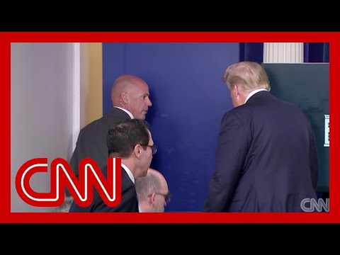 Donald Trump abruptly pauses press briefing after shooting near White House