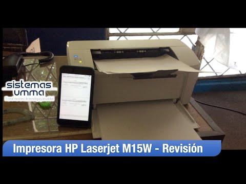 HP Laserjet Pro M15W - Silenciosa y Compacta