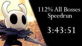 Hollow Knight 112% All Bosses NMG Speedrun - 3:43:51 loadless