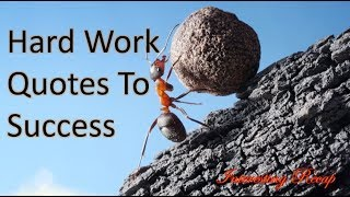 Hard Work  Quotes To Success