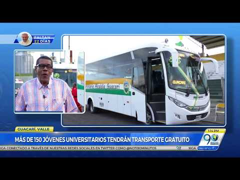 Más de 150 universitarios en Guacarí se beneficiarán con nuevo transporte gratis