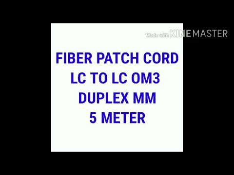 LC/PC  TO LC/PC OM3   Fiber Optic Patch Cord 10 MTR
