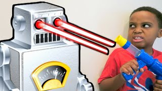 Bad Baby Evil Robot ATTACKS! - Escape The House Stalker - Shiloh And Shasha - Onyx Kids
