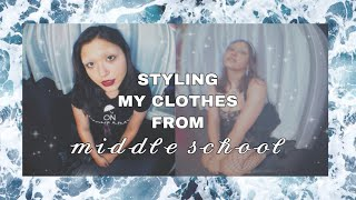 Styling My Outfits From Middle School ✧・゚: