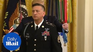 Trump Awards First-ever Medal Of Honor To Living Iraq Vet