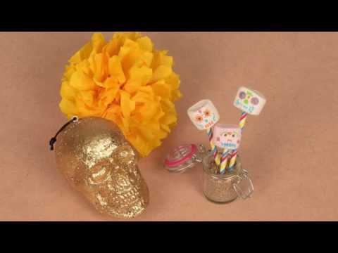 Marshmallows coloridos Dia de la muerte para Halloween