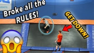 BREAKING ALL THE RULES AT SKYZONE!! *MADE US LEAVE*
