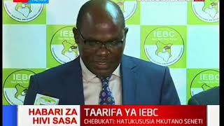 IEBC Chairman Wafula Chebukati assures Kenyans of justice if CEO is found guilty