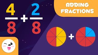 Learn How To Add Fractions - Same Denominator - Math For Kids