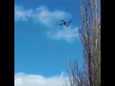 Коптер летает над Уфой