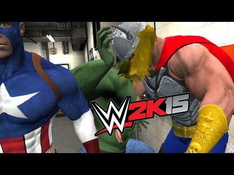 Download WWE 2K15 - AVENGERS STREET FIGHT ( HULK VS Captain AMERICA VS THOR VS IRON MAN) HD Mp4 3GP Video and MP3
