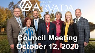 Preview image of Arvada City Council Meeting - October 12, 2020