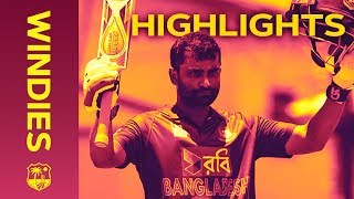 Tamim Hits Hundred In High Scoring Finale - Windies v Bangladesh 3rd ODI 2018 | Extended Highlights