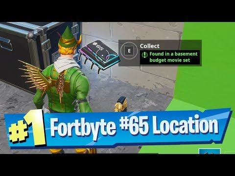 Fortnite Fortbyte #65 Location - Found in a Basement Budget Movie Set