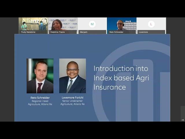 Allianz webinaire- assurance- agricole- digitalisation- solutions paramétriques