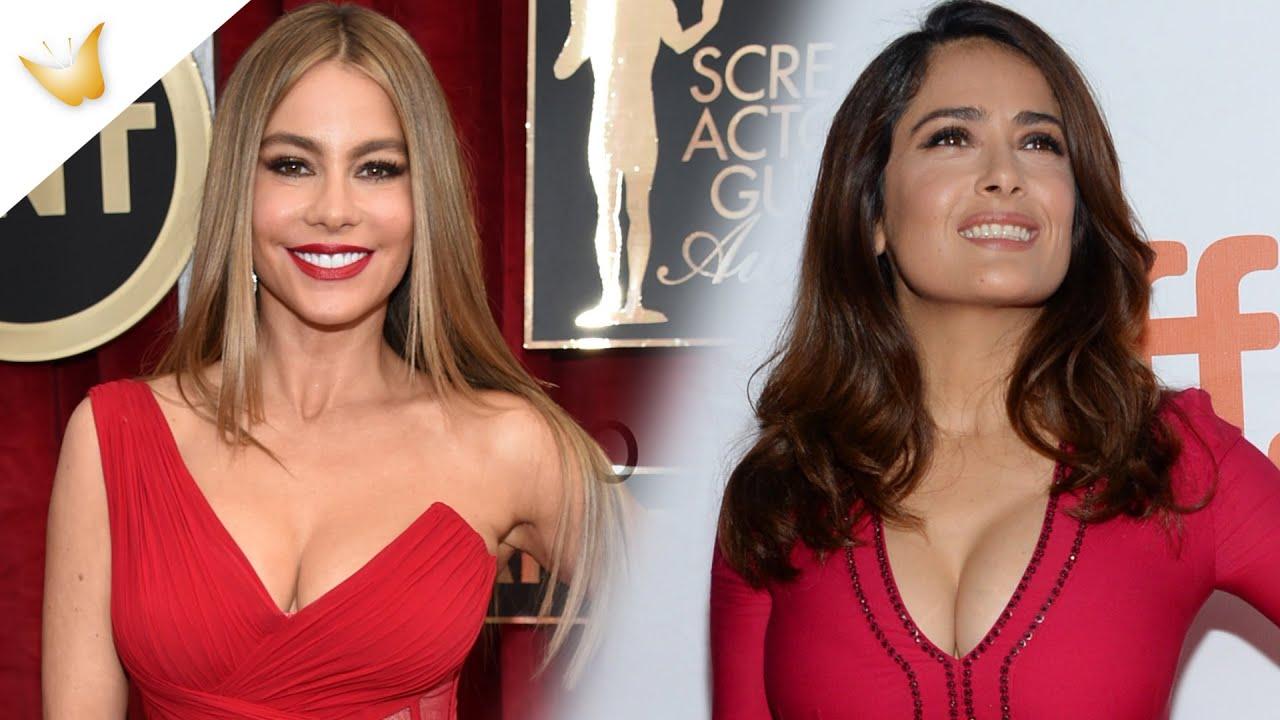 Salma Hayek y Sofía Vergara | Cómo vestir con pechos grandes