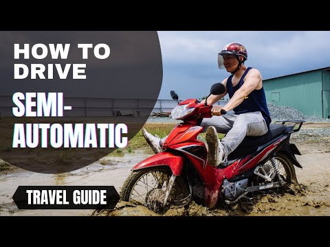 How to drive a motorbike in Vietnam.
