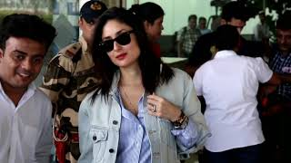 Kareena Kapoor, taimur spotted at airport departure