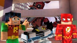 Minecraft Fnaf: Batman in Hospital - Giga Fnaf Foxy Destroying the city.