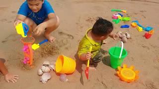 Trò Chơi Bé Đi Chơi Biển ❤ ChiChi Kids TV ❤ Đồ Chơi Trẻ Em Baby Go To Sea Sand