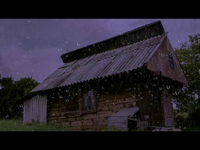 Relaxing Rain Sounds on a Tin Roof w/ Thunder for Sleep & Relaxation   10 Hours Natural White Noise