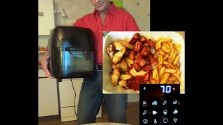 Functional Test  GOURMETMAXX  Air Fryer RA-001.Grill French fries, Chicken wings, Sausages