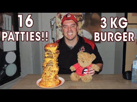 CHEESY 3kg Chainsaw Massacre BURGER Challenge!!