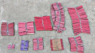 10 Different types of bijli ladi || Testing Diwali Crackers || Diwali Stash