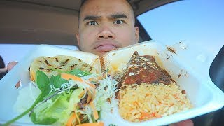 First Time Trying AUTHENTIC EL SALVADORIAN FOOD | Mukbang | QT