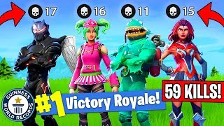 59 KILLS BY 1 SQUAD!! *NEW WORLD RECORD! (Fortnite FAILS & WINS #9)