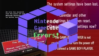 Nintendo GameCube All Errors! + forgotten Wii Error