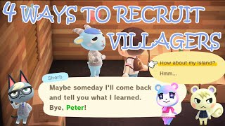 4 DIFFERENT METHODS to RECRUIT YOUR FAVOURITE and NEW VILLAGERS in ANIMAL CROSSING NEW HORIZONS!