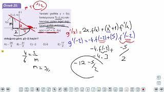 Eğitim Vadisi AYT Matematik 18.Föy Türev 2 Konu Anlatım Videoları