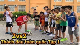 Thử Thách Bóng Đá 2 vs 2 Team Quang Hải Nhí Duy Trung và Neymar đấu các cầu thủ nhí Việt Nam