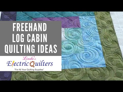 Freehand Quilting Ideas for a Log Cabin Block - Quilting Tutorial