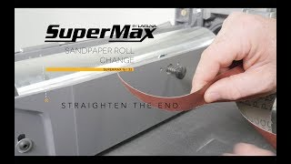 Changing Sandpaper On A 16-32 SuperMax Drum Sander