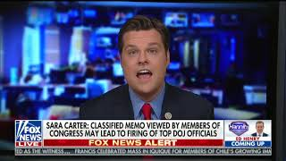 Rep. Matt Gaetz attacks Mueller on Hannity, says people are going to jail