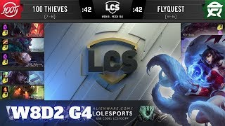 100 Thieves vs FlyQuest | Week 8 Day 2 S10 LCS Spring 2020 | 100 vs FLY W8D2