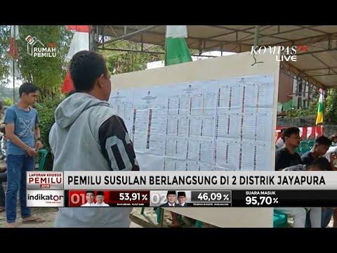 Pemilu Susulan Tengah Berlangsung di 2 Distrik Jayapura