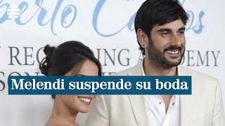 Melendi suspende la celebración de su boda prevista para este sábado