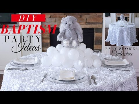 BAPTISM PARTY DECORATION IDEAS |  DIY BAPTISM CENTERPIECE | BABY SHOWER CENTERPIECE