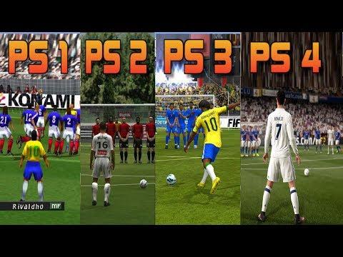 PS1 vs PS2 vs PS3 vs PS4 FIFA Gameplay Comparison