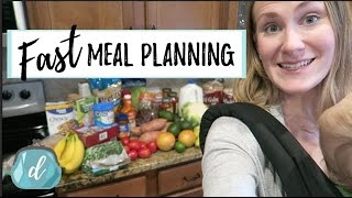 FAST Meal-Planning on a budget! (feat. Walmart Online Grocery)